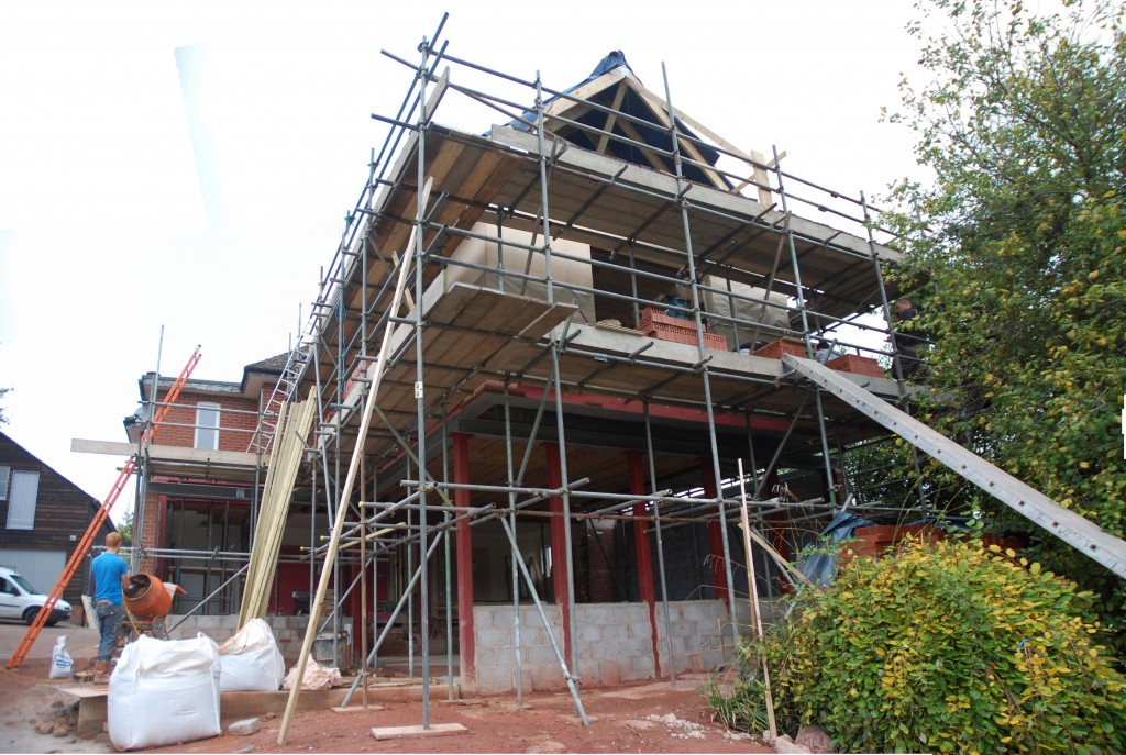 Architecture being constructed on site