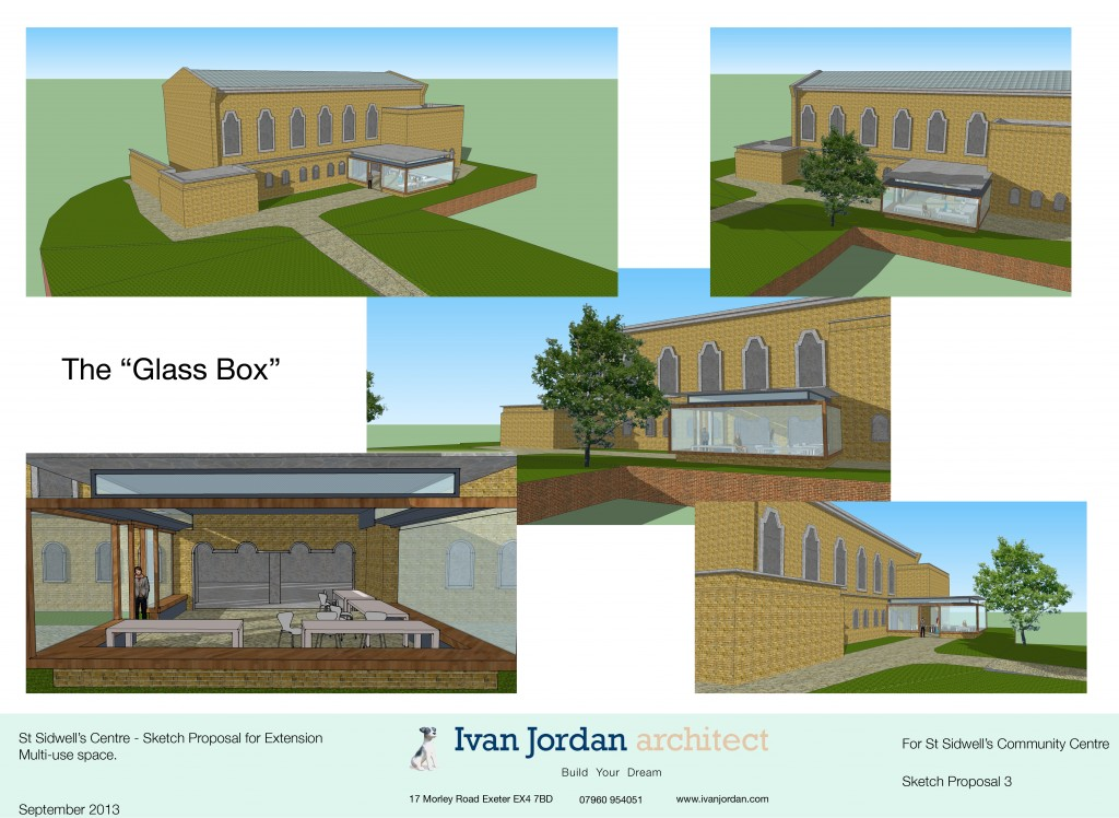 Architectural proposals for an extension to a community centre, St Sid's in Exeter