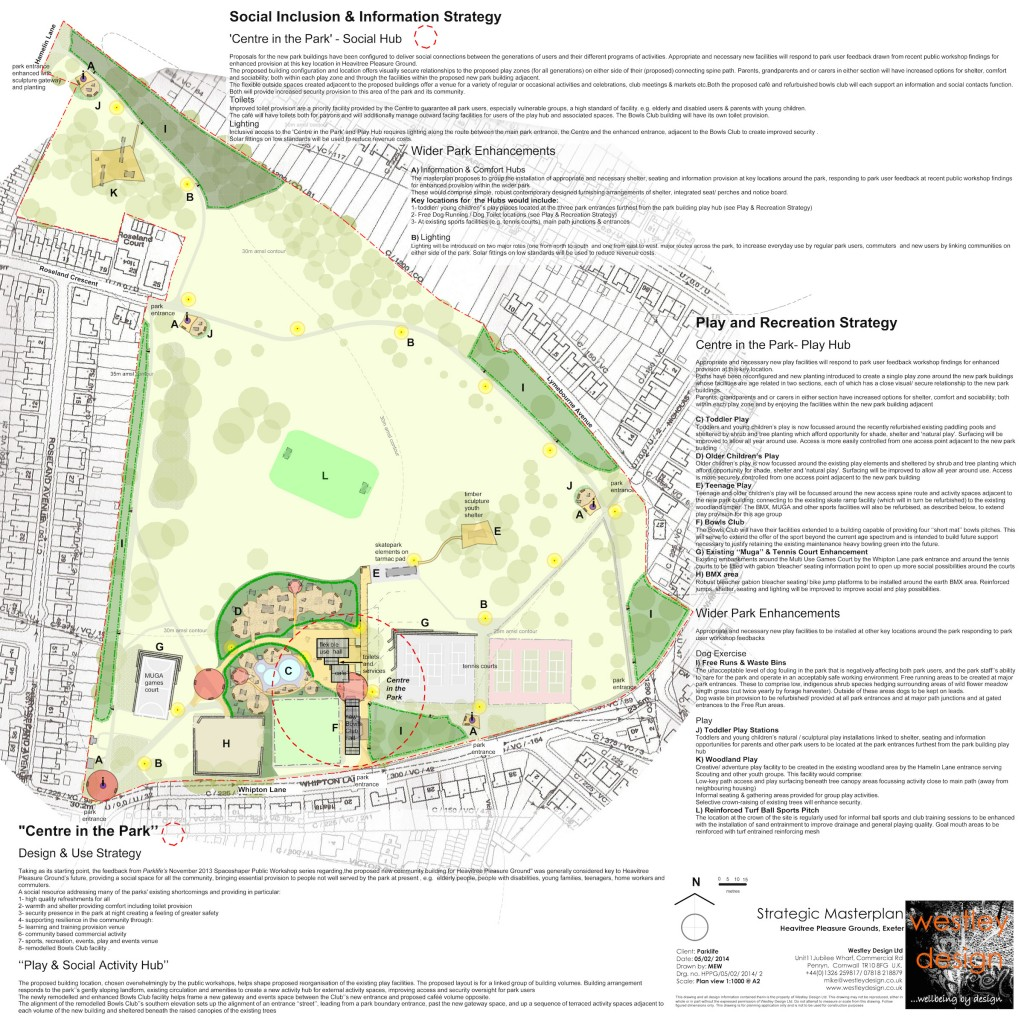 Park masterplan for Heavitree Pleasure Ground