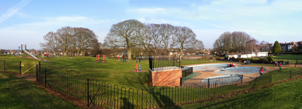 Heavitree Playgound - an austere mess of fences and unforgiving surfaces.